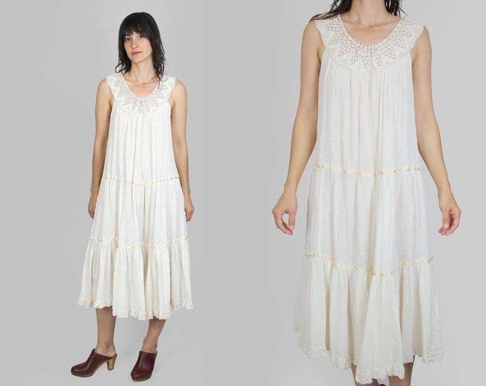 Crochet Gauze Dress