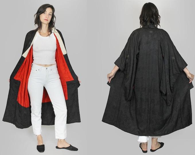 50s Black Silk Kimono