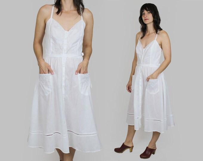 White Sun Dress Vintage