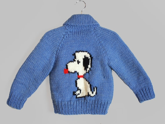 Hand Knit Snoopy Sweater Vintage