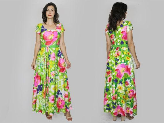 Floral Maxi Dress Vintage