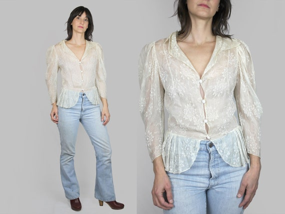 Edwardian Chiffon Beaded Blouse
