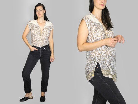 Indian Cotton Blouse Vintage