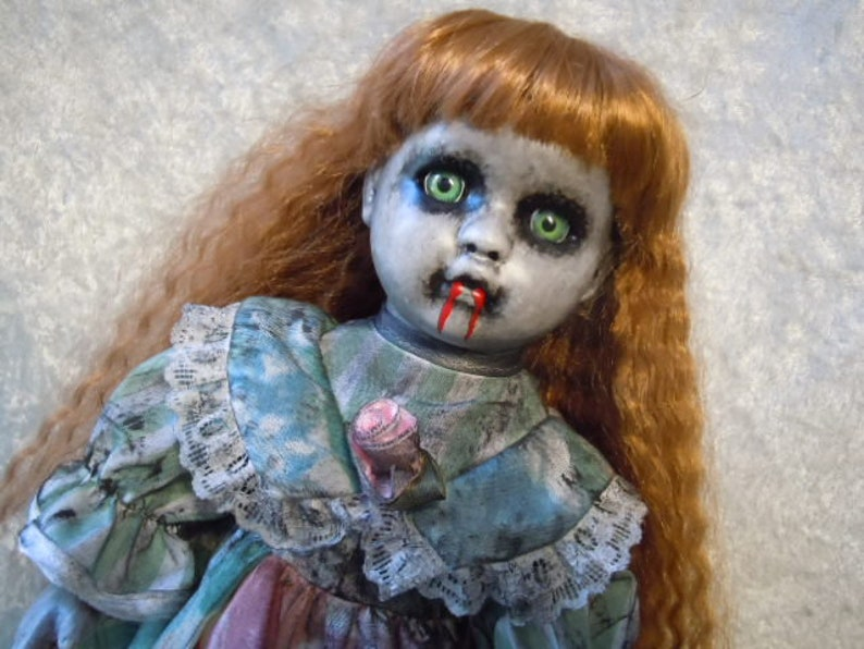 Small Vampire Girl Doll #508  Dark Art  Horror Collectible  Day of the Dollies