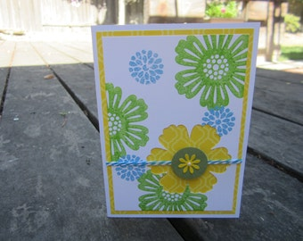 Flower Blossoms card  All Occasion card