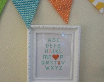 ABC I Love You, Nursery Decor, New Baby
