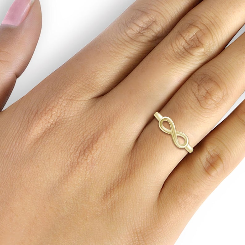 Elegantly Engraved With My Angel 14k Gold Over Silver Infinity Ring