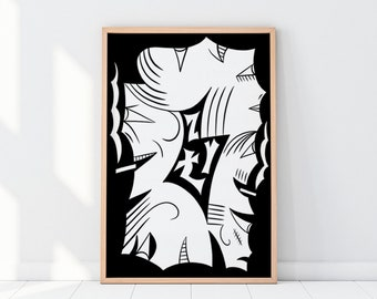 ZŁY Poster. 50x70cm. Limited edition.