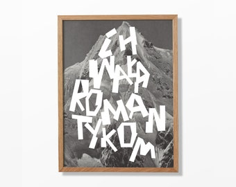 Long live romantics! A3 poster. Black&White. Giclee print.