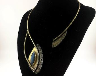 Collar Necklace Labradorite Open Necklace
