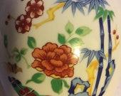 Vintage Sakura Handcrafted Porcelain Imari Ware Japan Vase Urn 6 quot Tall Gold Trim Hand Psintef Japanese Flower Vase