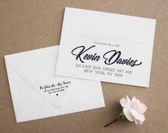 Printed Envelope Addressing, Wedding Addressed Envelope, Custom Envelope, Envelopes for Any Event, Font/Calligraphy, Printed Envelopes