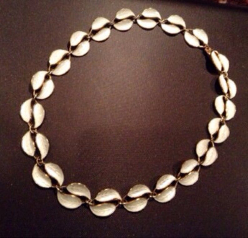 Vintage 1950's David Andersen sterling silver and white image 0