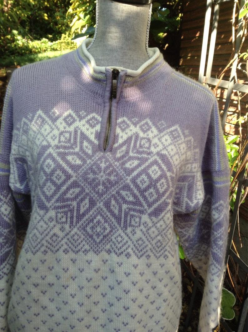 Dale of Norway polar zip Norwegian wool sweater made in image 0