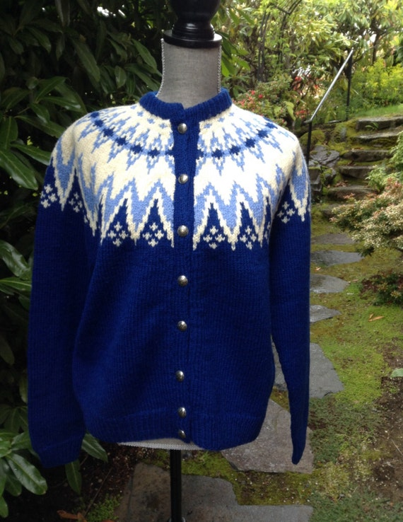 Fair Isle Norwegian wool sweater by Turi