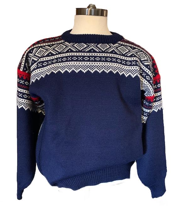 Dale von Norwegen Marius Muster Norwegain Pullover Größe M