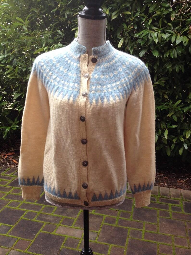 10f8395db27d86 Fair Isle Norwegian wool sweater by Sundt of Bergen-S