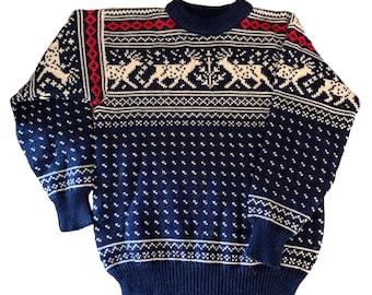 Dale of Norway reindeer sweater. Made in Norway