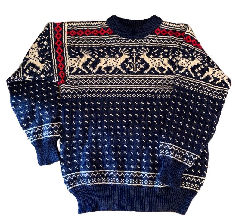 Dale of Norway reindeer sweater. Made in Norway image 0