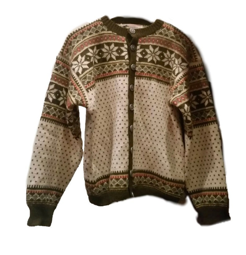 Fair Isle Norwegian wool sweater by Rasmussen-M image 0