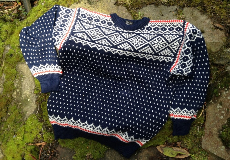 Dale of Norway Norwegian wool sweater made in Norway-size XL image 0