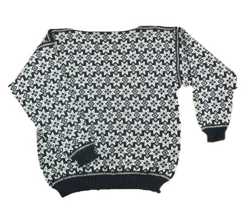 Norwegian wool sweater by Voss made in Norway-unisex XL image 0