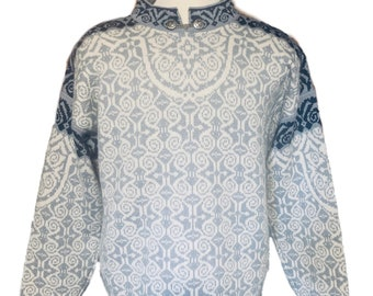 Dale of Norway, Norwegian wool sweater made in Norway-size L