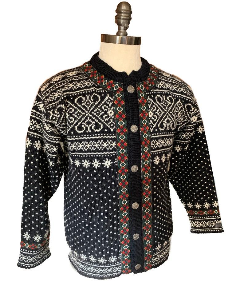 Dale of Norway Norwegian wool cardigan ski sweater-Size Mens image 0