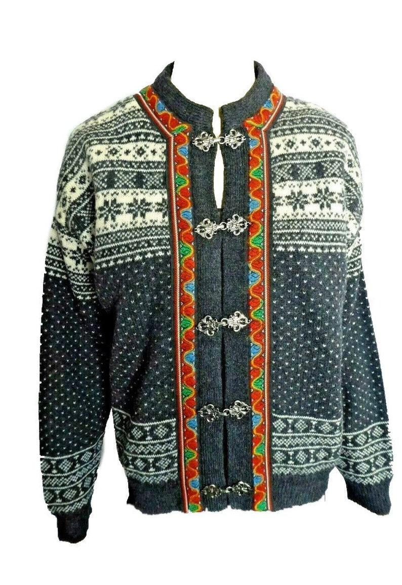 CHRISTIANIA CLASSIC wool cardigan norwegian sweater unisex image 0