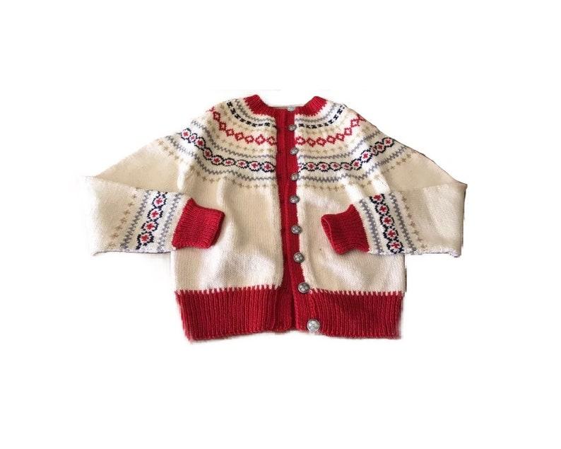 Handmade Norwegian sweater.  child size 12 image 0