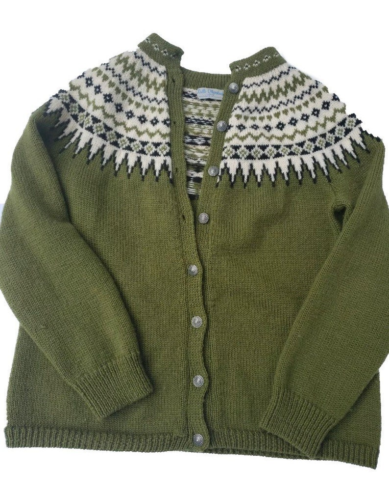 Fair Isle Norwegian wool sweater by Lulle Otterstad. Made in image 0