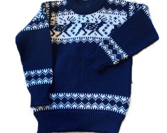 Dale of Norway children's sweater, size 8 made in Norway