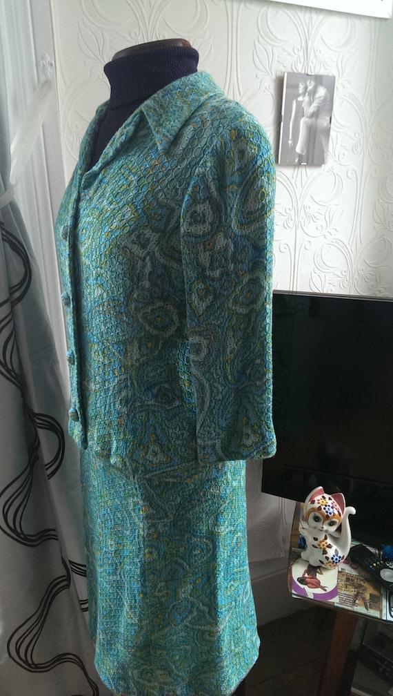 Vintage 60s Paisley Print Skirt Suit - image 5