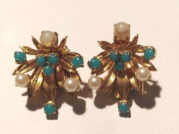 Vintage 60s Designer Christian Dior Clip-on Earrin