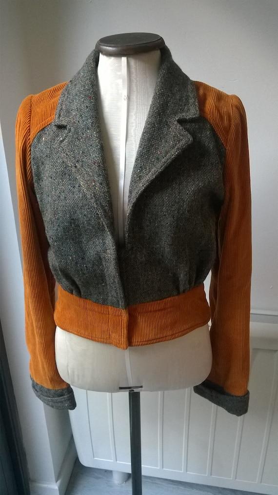Original Rare Vintage 70s Mary Quant Cropped Jacke