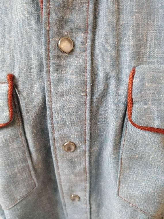 Vintage 50s Rockmount Denim Western Shirt - image 5