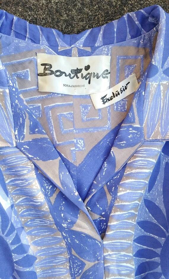 Vintage 50s Floral Novelty Print Dress - image 6