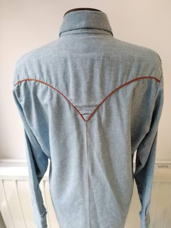 Vintage 50s Rockmount Denim Western Shirt - image 2