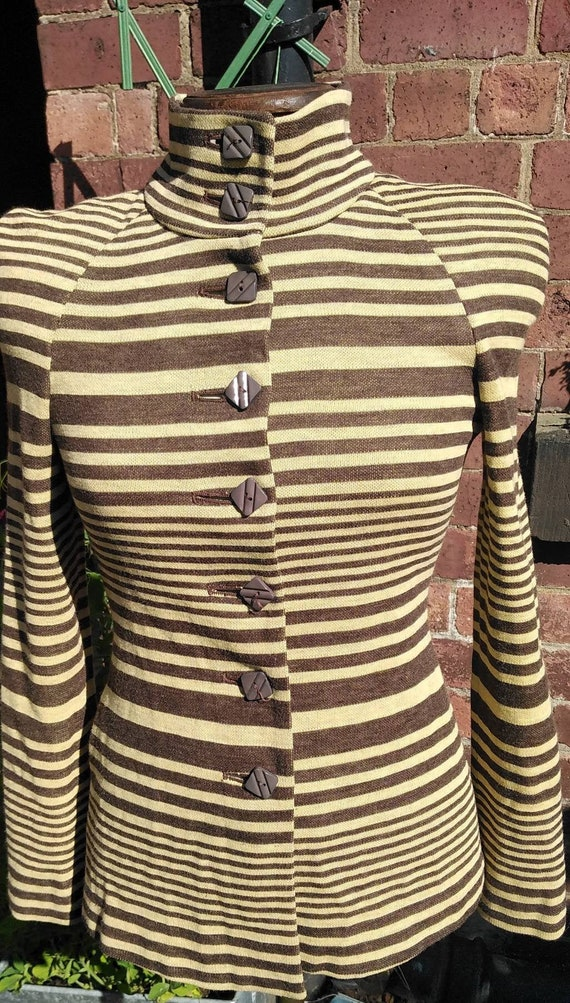 Vintage Biba Striped Jersey Jacket