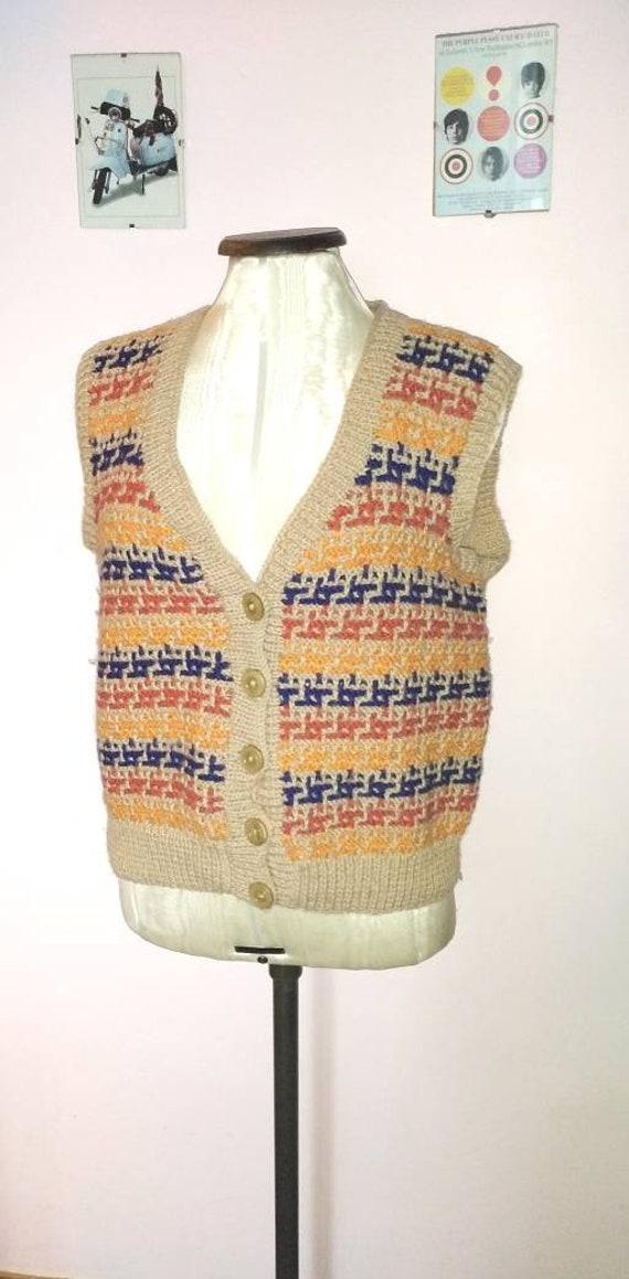 Vintage 40s Handmade Wool Landgirl Waistcoat