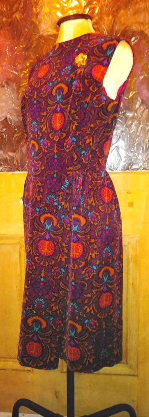 Vintage 60s Velvet Dolly rockers Dress