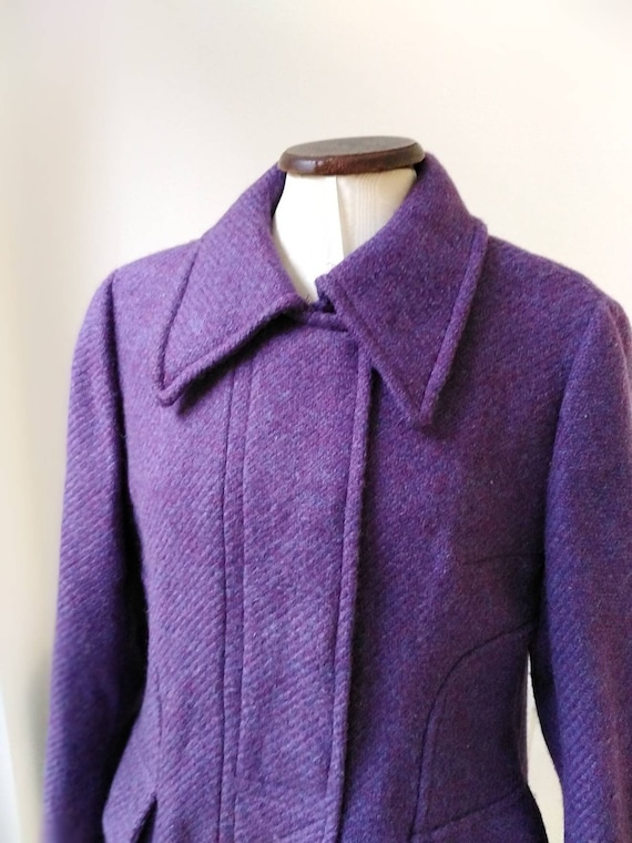 Vintage 60s Purple Wool Mod Trouser Suit