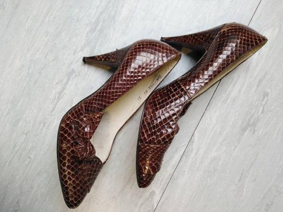 Vintage 50s Snakeskin Heels