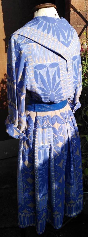 Vintage 50s Floral Novelty Print Dress - image 8