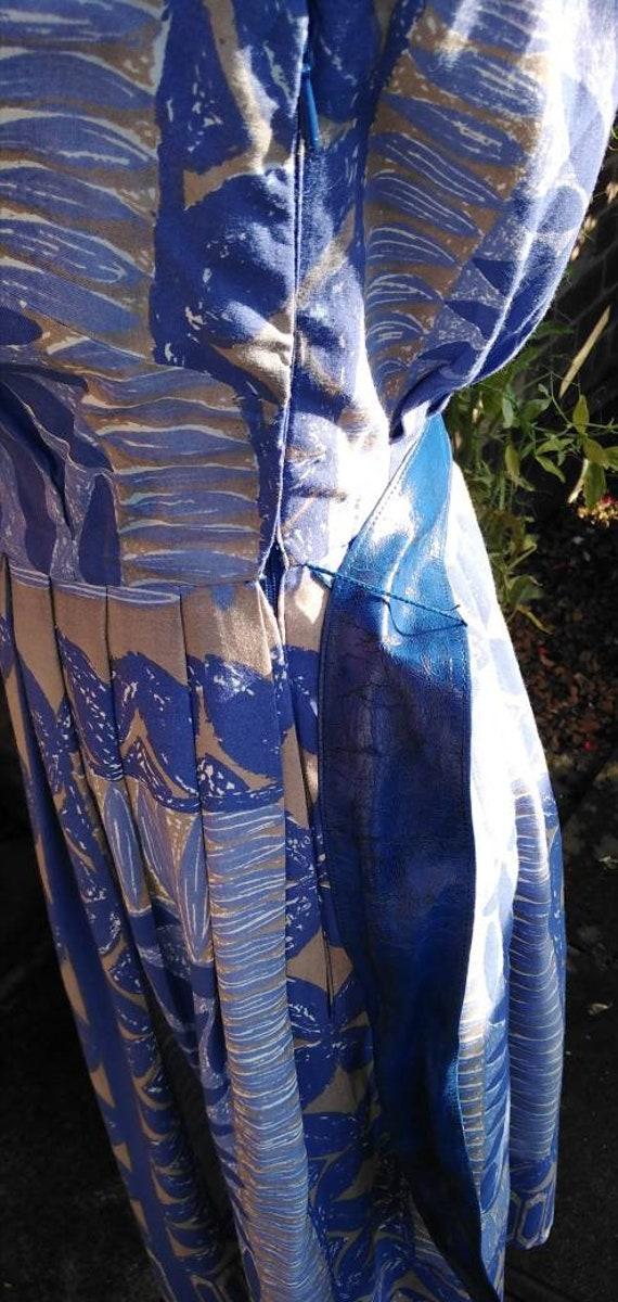 Vintage 50s Floral Novelty Print Dress - image 7
