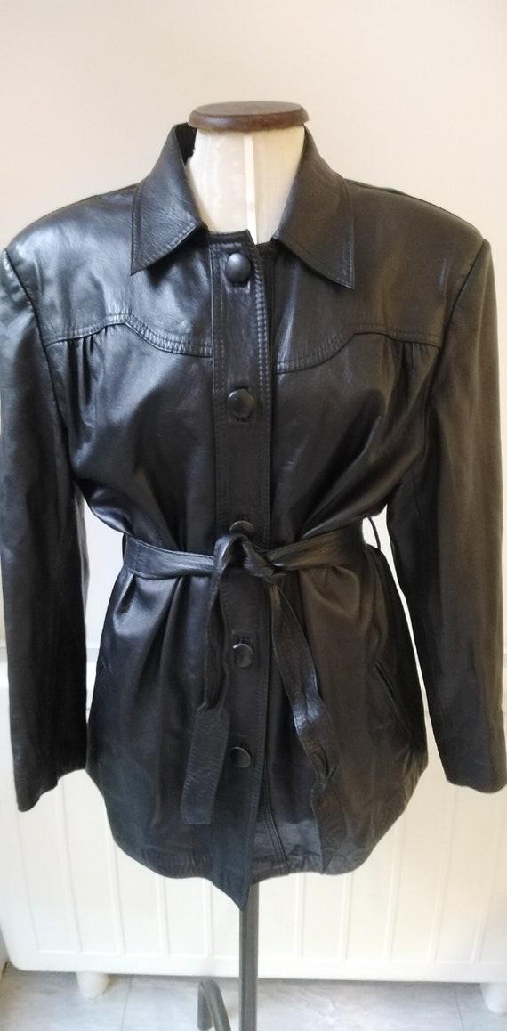 Vintage 80s Black Leather Jacket