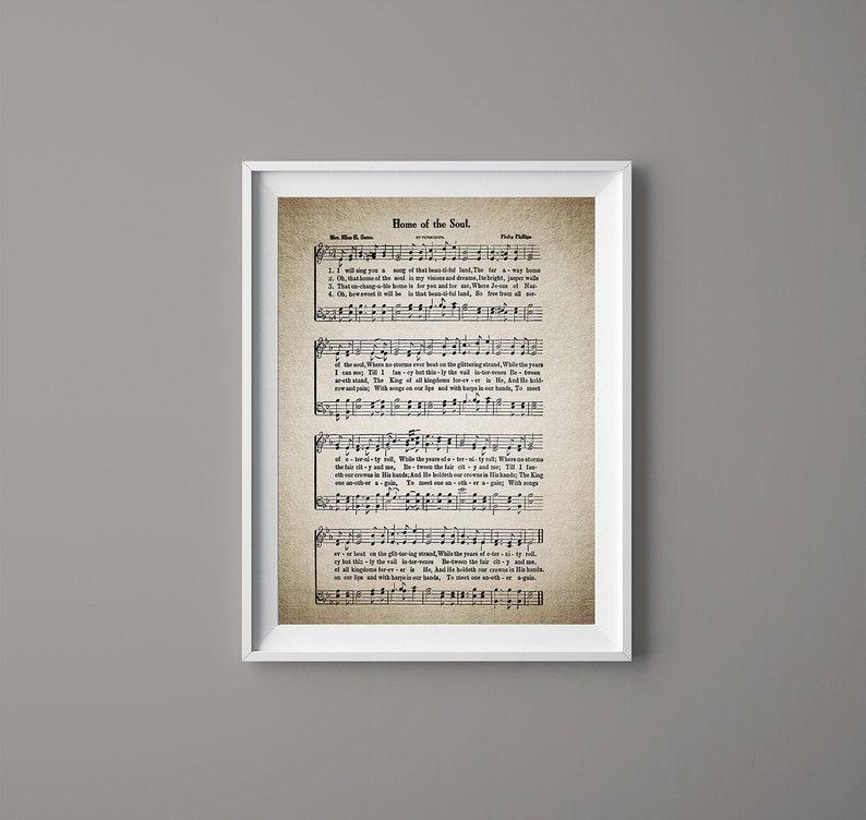 Home of the Soul Hymn Print - Sheet Music Art - Hymn Art - Hymnal Sheet -  Home Decor - Music Sheet - Gift - Instant Download - #HYMN-069