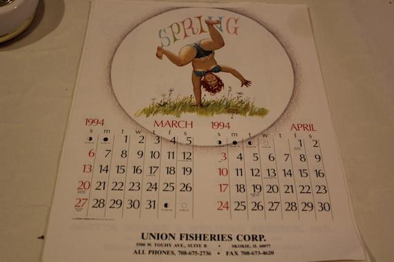 Hilda Duane Breyers Calendar Page March April 1994 Etsy