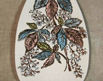 Vintage Home Made Wall Plaque Floral Design