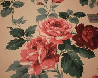 Imperial Wallpaper Sample Big Roses